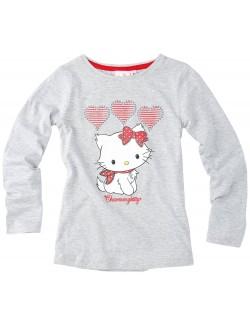 Bluza Charmmy Kitty, gri, cu maneca lunga, 8 ani