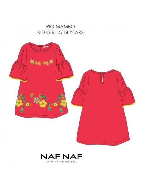 Rochie Naf-Naf Rio Mambo, fucsia, copii 4-14 ani