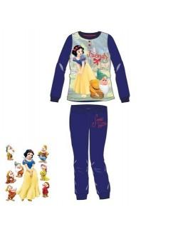 Pijama Disney Alba ca Zapada, bleumarin, fete 8-10 ani