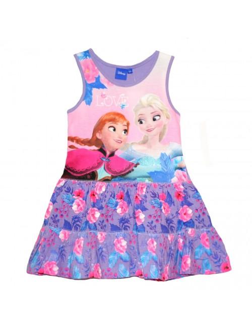 Rochie Disney Frozen, mov, copii 4-8 ani