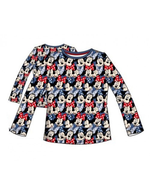 Bluza Minnie Mouse full-print, albastra, 3-8 ani