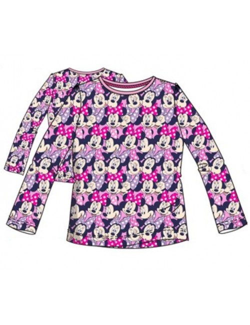 Bluza Minnie Mouse full-print, roz, copii 3-8 ani