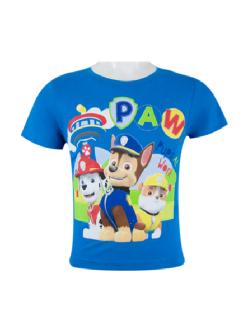 Pijama Marshall Paw Patrol, 3-6 ani, alb-rosu