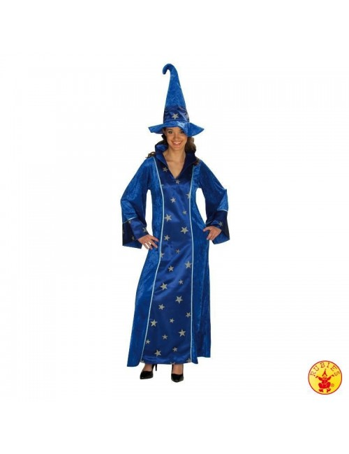 Costum Halloween femei, Rochie albastra de Vrajitoare