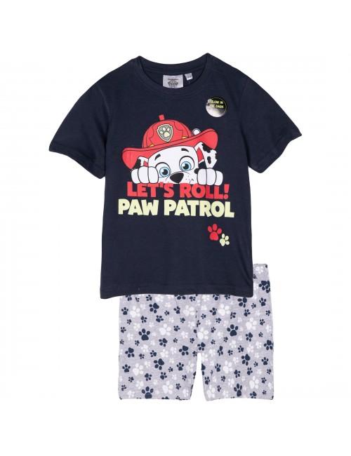 Pijama Marshall Paw Patrol, baieti 3-6 ani, bleumarin