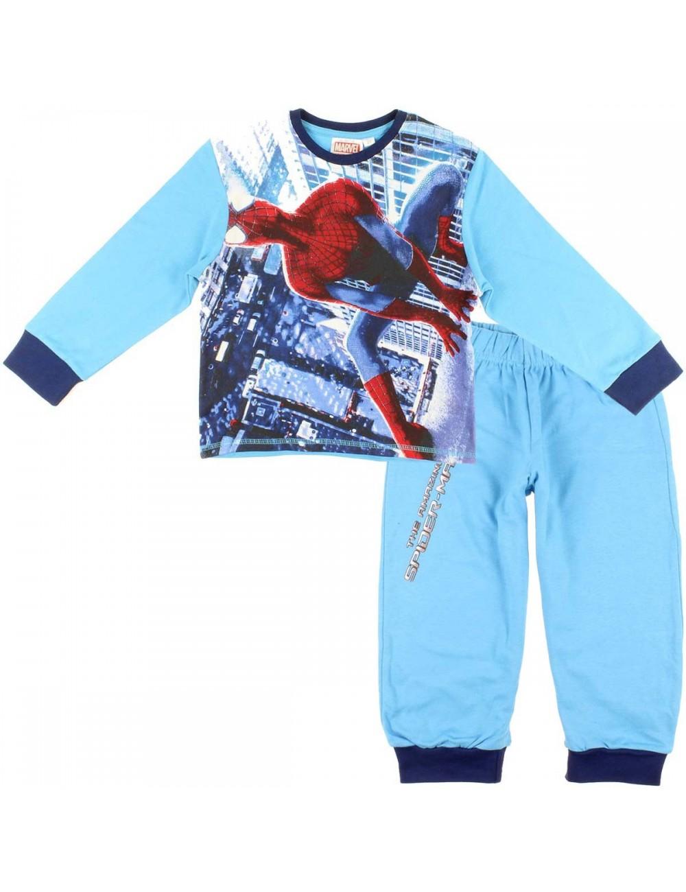 Pijama maneca lunga Spiderman, 4-8 ani