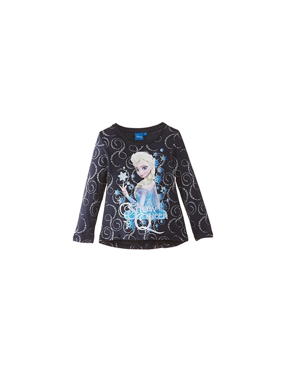 Bluza cu maneca lunga bleumarin cu Elsa-Frozen-OE1755