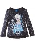 Bluza maneca lunga, bleumarin, Elsa Frozen