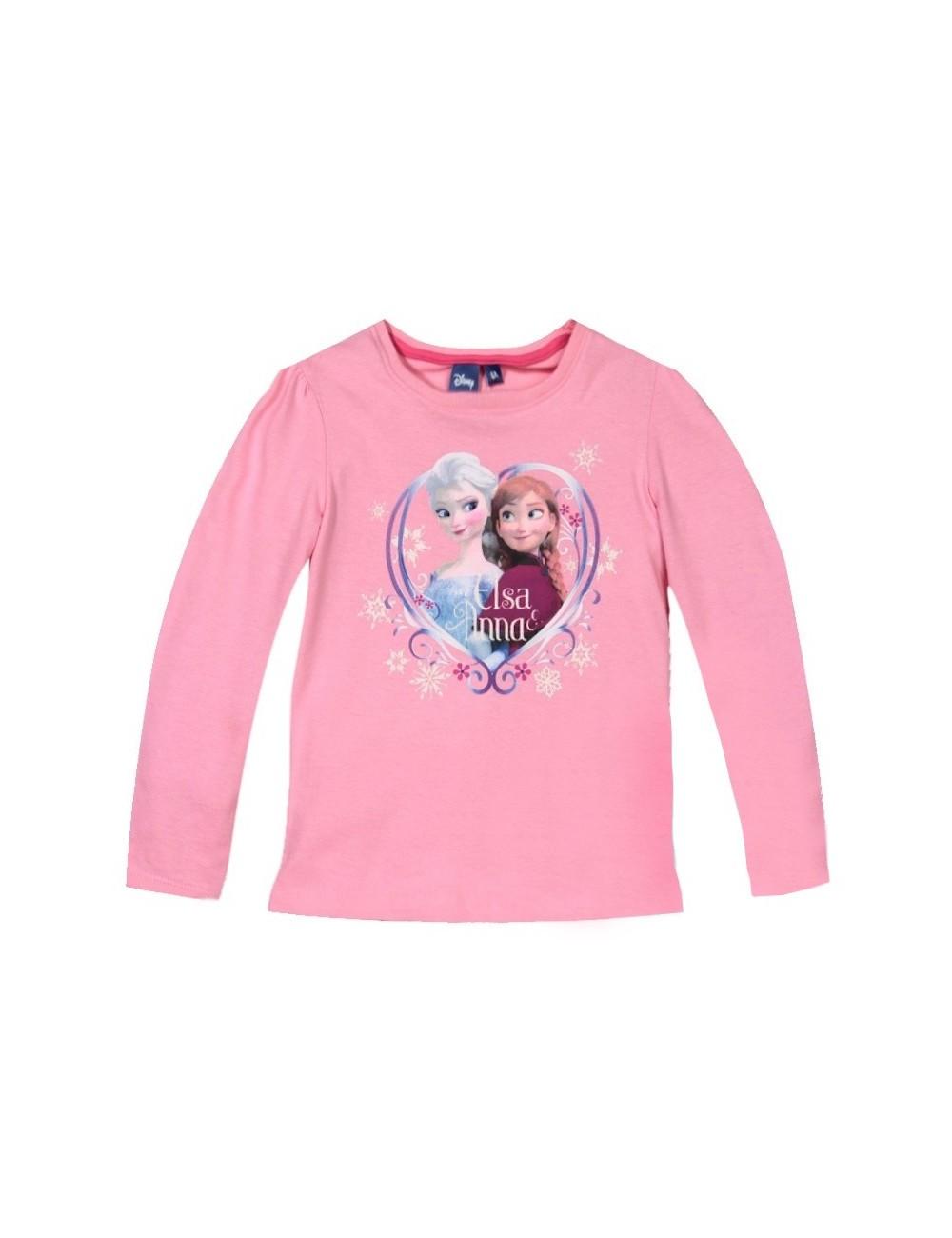 Bluza roz Anna si Elsa, maneca lunga, Disney Frozen
