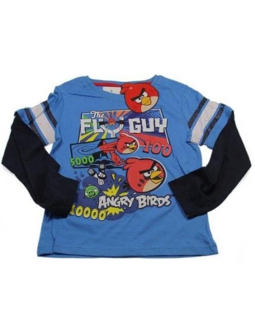 Bluza Angry Birds, copii 4 ani, albastra