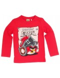 Bluza rosie cu maneca lunga Angry Birds Epic
