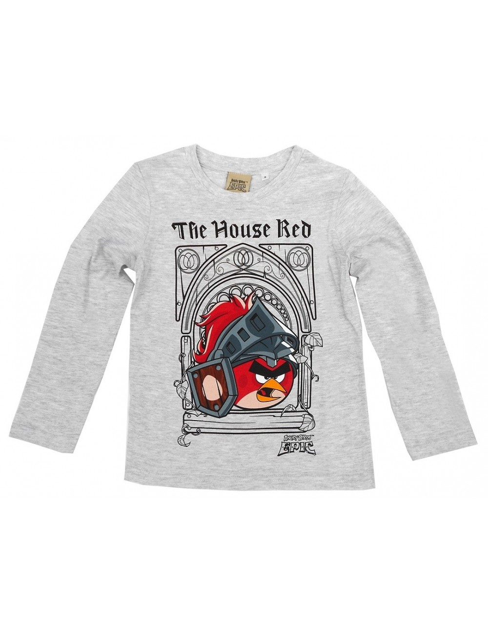 Bluza Angry Birds Epic, gri, copii 6 - 12 ani
