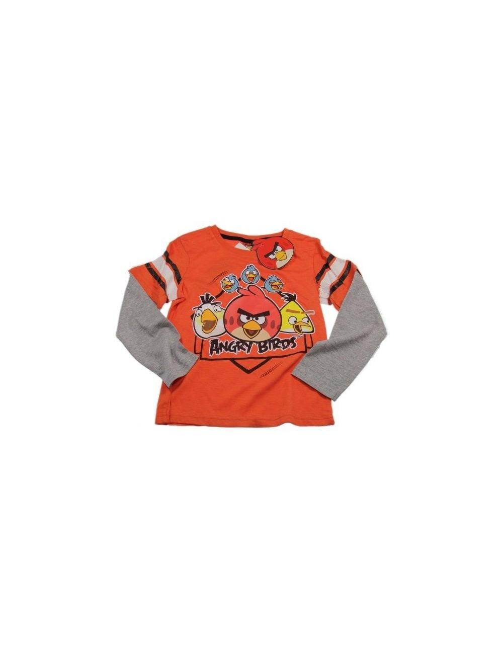 Bluza Angry Birds, portocalie, pentru copii 6 - 8 ani