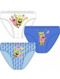 Set 3 x chiloti copii, SpongeBob, 4 - 11 ani