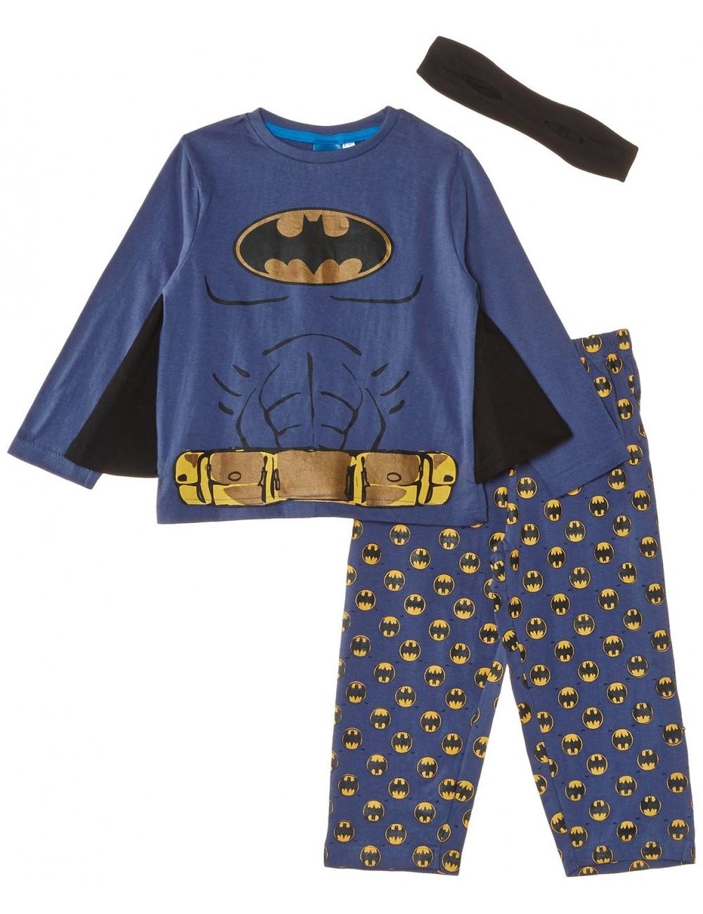 Pijama Batman cu aripi si masca, copii 3 ani
