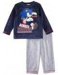 Pijama catifea copii, Ariciul Sonic