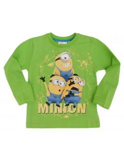 Bluze copii Minions, verde, 4 - 9 ani