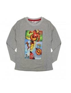 Bluza baieti Avengers Iron Man, gri, 4 - 9 ani