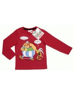 Bluza maneca lunga Asterix si Obelix, rosie