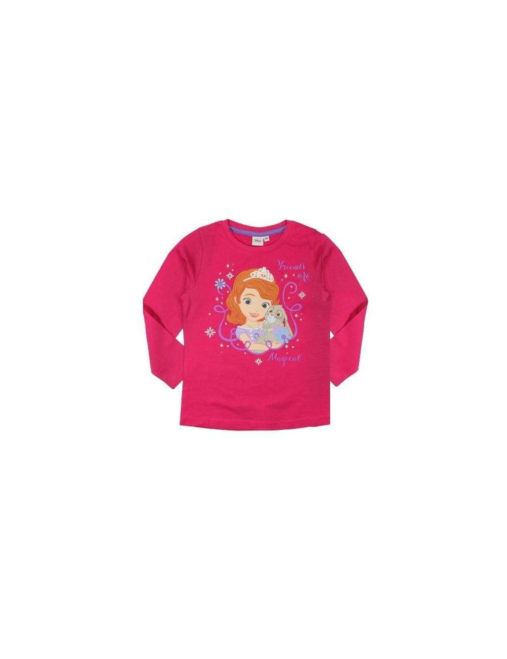 Bluza Printesa Sofia si iepurasul Clover, fucsia, 5 ani