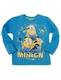 Bluza albastra Minioni, copii 4-9 ani
