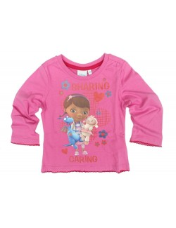 Bluza roz Doctorita Plusica 2-5 ani