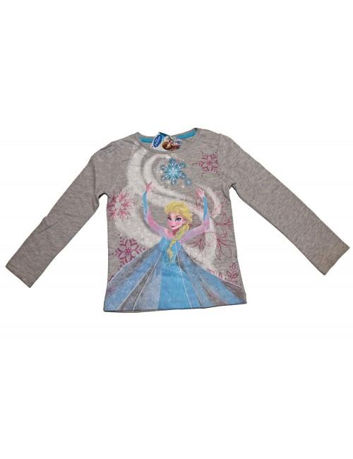 Bluza Elsa Disney Frozen maneca lunga 4-8 ani, gri