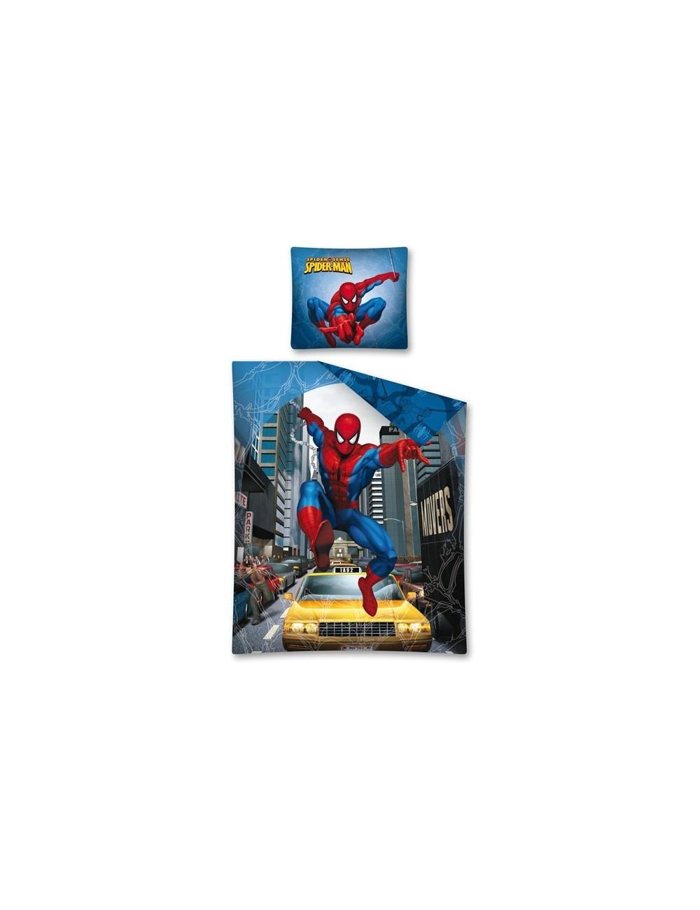 Lenjerie de pat Spiderman, bumbac, 160x200 cm