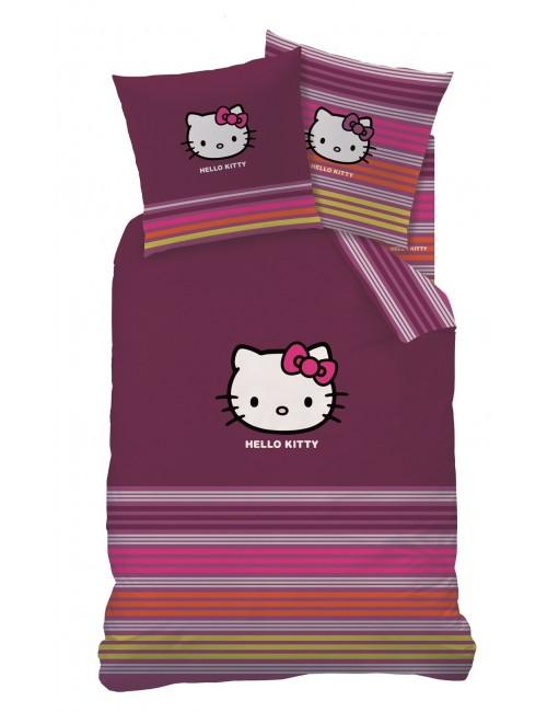 Lenjerie de pat Hello Kitty 160x200, bumbac