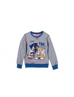 Bluza gri, maneca lunga 3-4 ani Ariciul Sonic