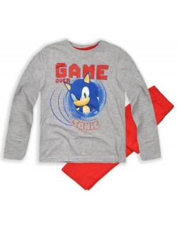 Pijama gri-rosu, 3-8 ani Ariciul Sonic