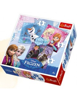 Puzzle 3 in 1 Disney Frozen