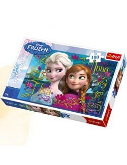 Puzzle 100 piese, Ana si Elsa Disney Frozen