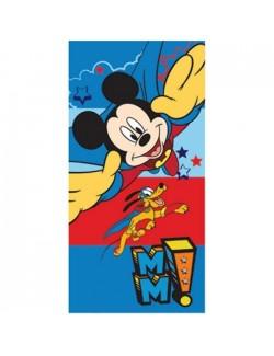 Prosop plaja Mickey Mouse si Pluto 70x140 cm