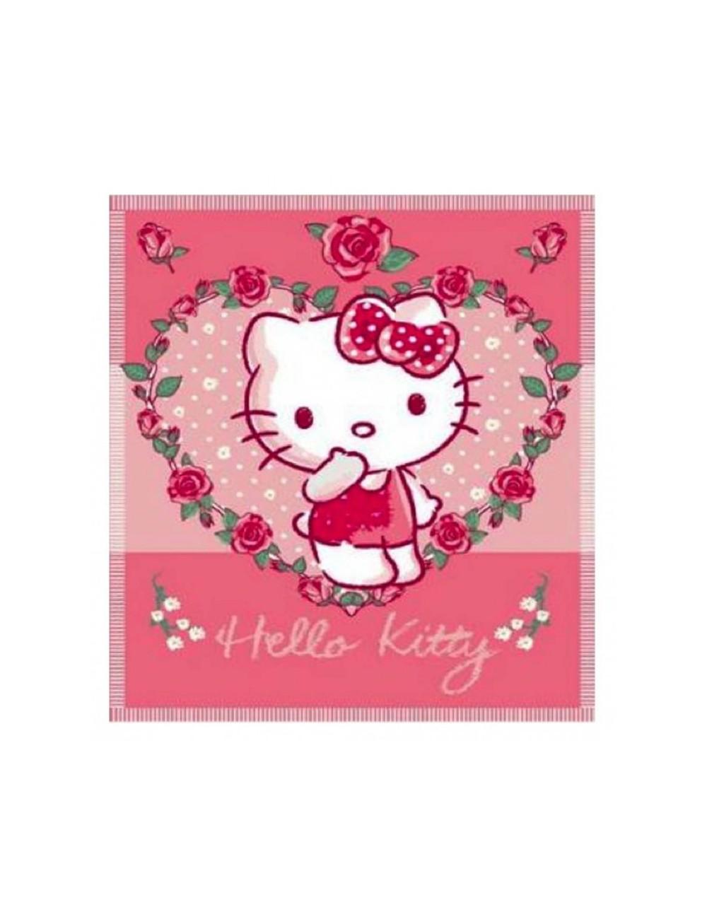 Paturica polar-fleece 100x150 cm - Hello Kitty