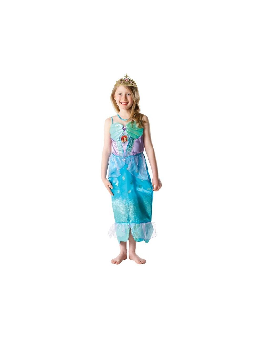 Costum carnaval Ariel Mica Sirena Glitter, 7-8 ani