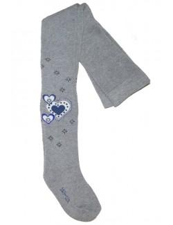 Ciorap pantalon iarna, copii 7-10 ani, cu Inimioare