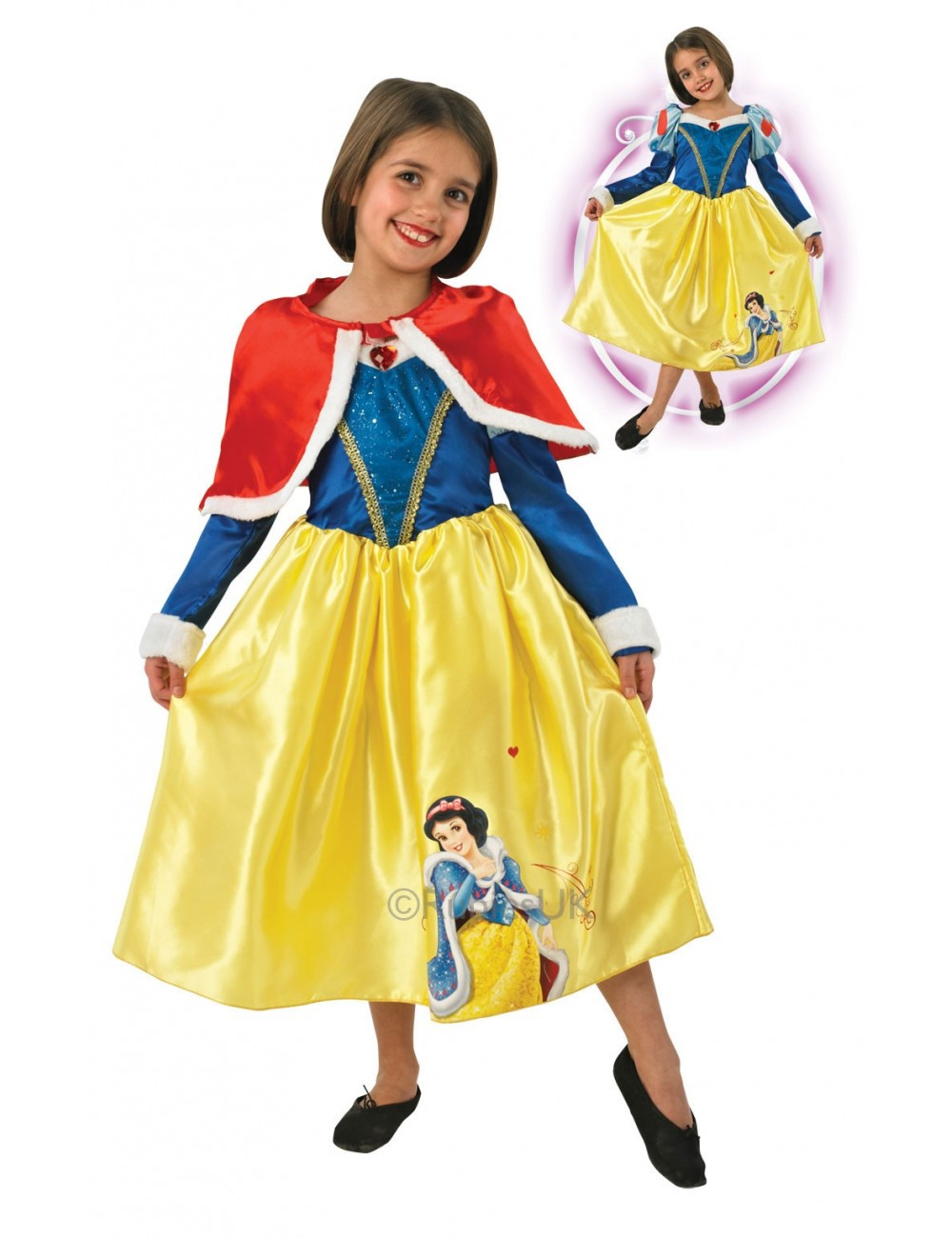 Costum Alba ca Zapada -model de iarna 2-Rubie's