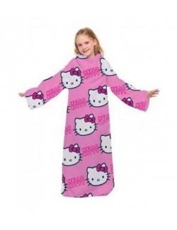 Patura cu maneci Snuggle blanket Hello Kitty