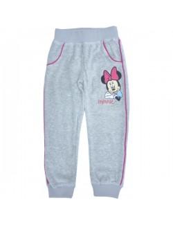 Pantaloni sport copii, catifea, Minnie Mouse