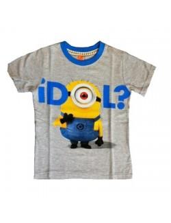 Tricou adulti Minions Idol, gri, S-XL