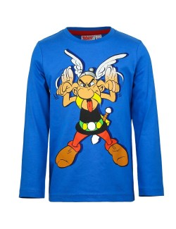 Bluza albastra cu Asterix 4-8 ani