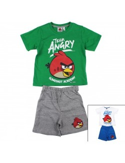Set tricou si pantaloni scurti, Angry Birds, copii 3 - 4 ani