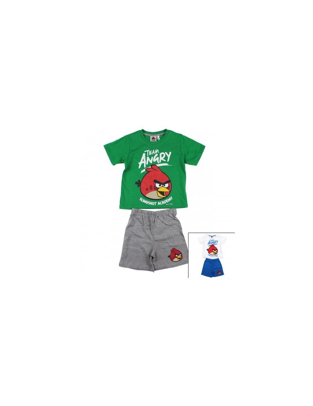 Set tricou si pantaloni scurti, Angry Birds, copii 3 - 4 ani