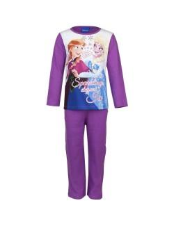 Pijamale fete, Disney Frozen, mov cu alb