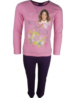 Pijama fete Violetta: Music Love Passion, roz