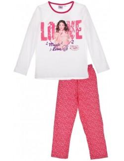 Pijama Violetta Love, fete 6 -12 ani