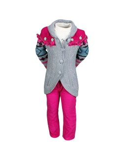 Set haine 3 piese: Pulover, Bluza, Pantaloni captusiti 3-6 ani