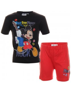 Set haine Mickey Mouse Rock Star - tricou si pantaloni scurti
