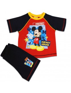 Pijama vara copii, Mickey Mouse Mr. Perfect, 12 luni - 3 ani